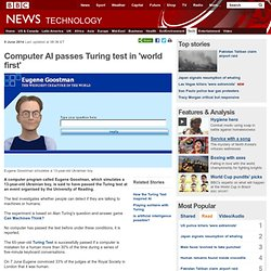 Computer passes Turing test