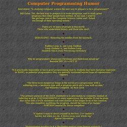 Computer Programming Humor