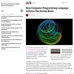 New Computer Programming Language Imitates The Human Brain