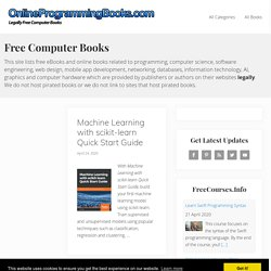 Free Computer Books, Programming eBooks and IT Books | OnlineProgrammingBooks.com