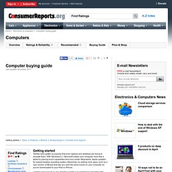 Computer buying tips from Consumer Reports