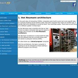 Teach ICT GCSE Computer Science 9-1 OCR J276 Von Neumann architecture