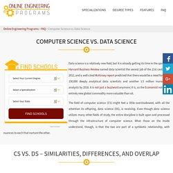 Computer Science (CS) vs. Data Science (DS)