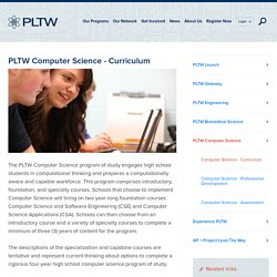 PLTW Computer Science - Curriculum