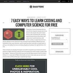7 Easy Ways to Learn Coding and Computer Science for Free