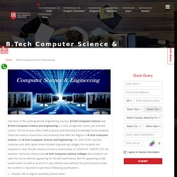 B.Tech Computer Science & Engineering