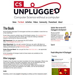 The Book - Computer Science Unplugged