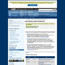 Computer Security Publications - NIST Special Publications (SPs)