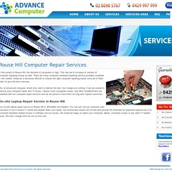 On-site Computer Repair Services Rouse Hill Laptop Screen Repairing