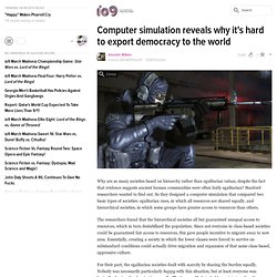Computer simulation reveals why it's hard to export democracy to the world