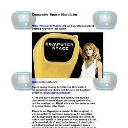 Computer Space Simulator