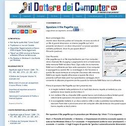 Il Dottore dei Computer: Spostare il file Pagefile.sys