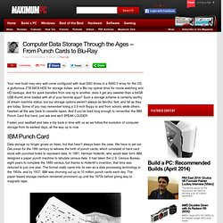 Computer Data Storage Through the Ages -- From Punch Cards to Blu-Ray