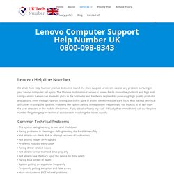 Lenovo Computer Support 0800-098-8343 Lenovo Computer Contact Number