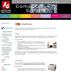 Computer Systems: Output Devices