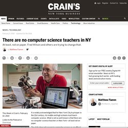 There are no computer science teachers in NY