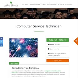 Computer Service Technician Training in Toronto