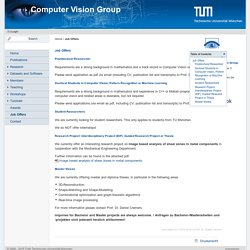 Computer Vision Group - Job Offers