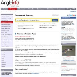 Computers & Telecoms The AngloFILE Business Directory : Costa Rica