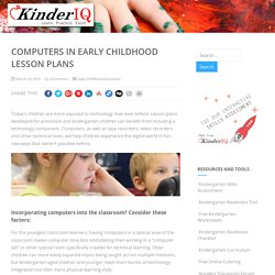 Computers in Early Childhood Lesson Plans