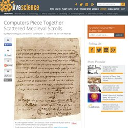 Computers Piece Together Scattered Ancient Scrolls