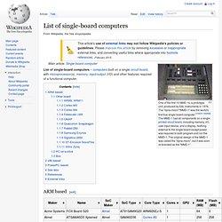 List of single-board computers