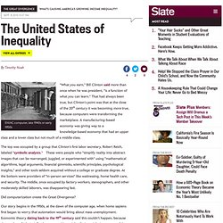 Did the tech boom create inequality? (4) - By Timothy Noah