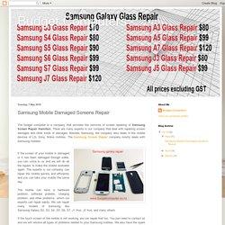Samsung Mobile Damaged Screens Repair
