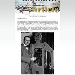 History of Computers and Computing, Automata, Elektro of Westinghouse