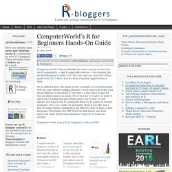 ComputerWorld's R for Beginners Hands-On Guide