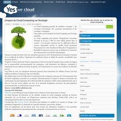 » L'impact du Cloud Computing sur l'écologie