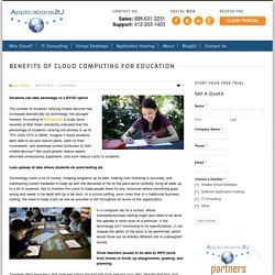Benefits of Cloud Computing for Education - Applications2U