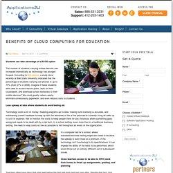Benefits of Cloud Computing for Education - Applications2U