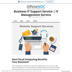 Benefits of Cloud Computing Services for Business