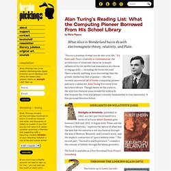 Alan Turing's Reading List: What the Computing Pioneer Borrowed From His School Library