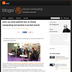 avec ou sans patriot act, le cloud computing est promis à un bel avenir