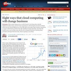 Oito maneiras que o cloud computing vai mudar empresa