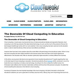 The Downside Of Cloud Computing In Education