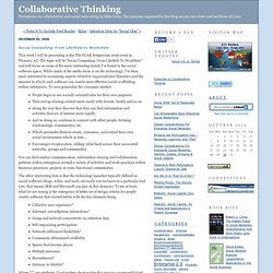 Collaborative Thinking: Social Computing: From LifeStyle to Work