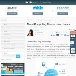 Nuvem de computação preocupações e questões