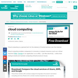 What is cloud computing? - Definition from WhatIs.com