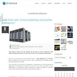 SaaS, PaaS, IaaS : Cloud computing, mais quelles différences ? - e-liance e-liance