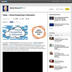Video -- Cloud Computing in Education