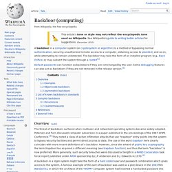 Backdoor (computing)