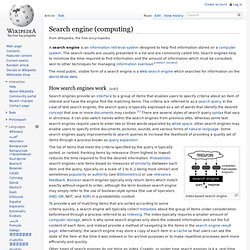 Search engine (computing)