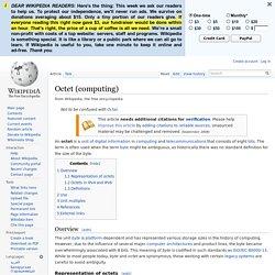Octet (computing)