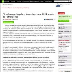 Cloud computing dans les entreprises, 2014 année de l'émergence