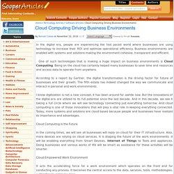 Cloud Computing Driving Business Environments