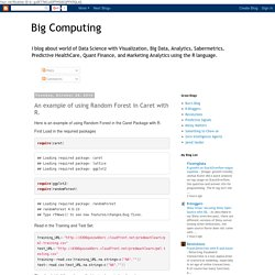 Big Computing: An example of using Random Forest in Caret with R.