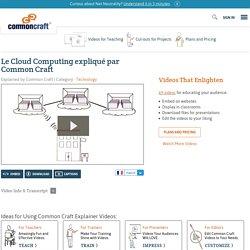 Le Cloud Computing expliqué par Common Craft